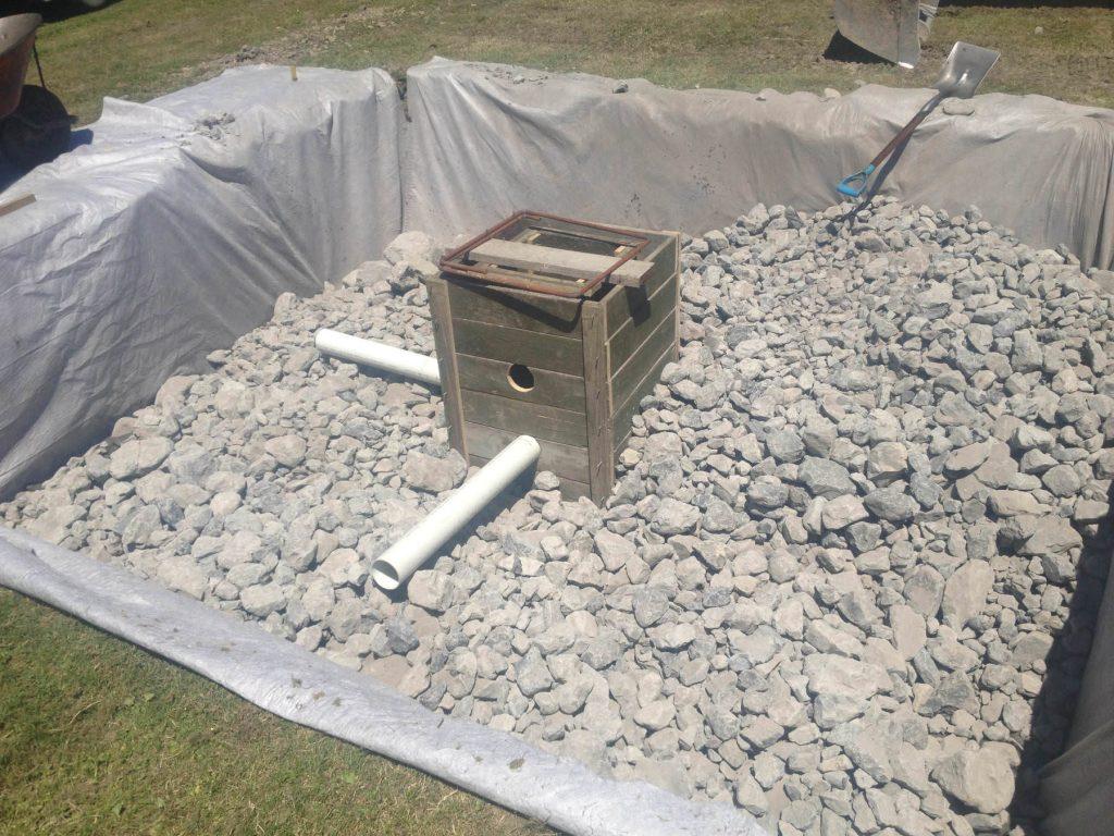 Soak hole construction