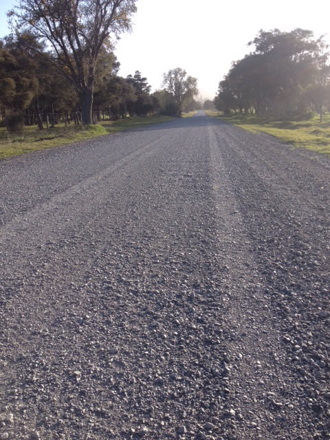Gravel road with new shingle