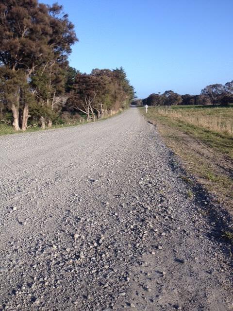 Resurfaced shingle road